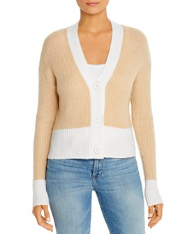 Design History - Ribbed & Color-Blocked Cardigan Sweater