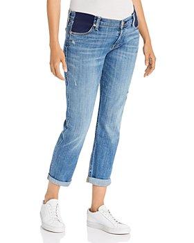 7 For All Mankind - Josefina Boyfriend Maternity Jeans in Broken Twill Vanity