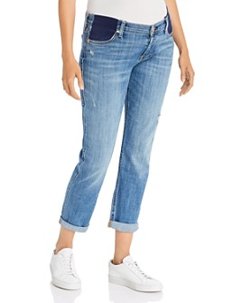 7 For All Mankind - Josefina Boyfriend Maternity Jeans in Broken Twill Vanity