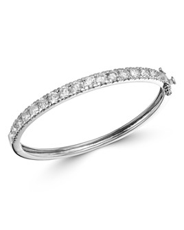 Bloomingdale's - Diamond Statement Bangle Bracelet in 14K White Gold, 5.0 ct. t.w. - 100% Exclusive