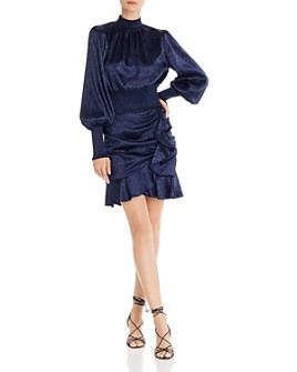AQUA - Leopard-Pattern Top & Ruffle-Trim Skirt - 100% Exclusives