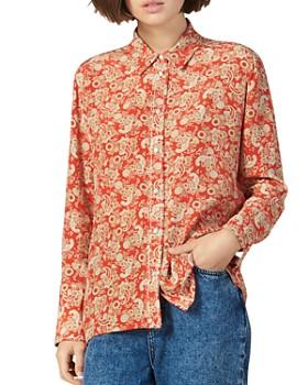 Sandro - Hanni Silk Paisley Shirt