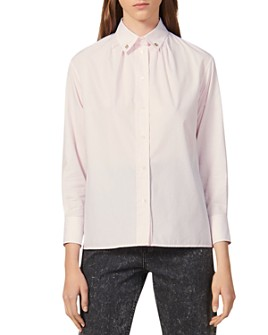 Sandro - Pollie Studded-Collar Shirt