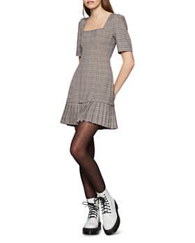 BCBGENERATION - Puff-Sleeve Plaid Mini Dress