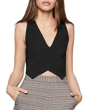BCBGENERATION - Deep V-Neck Cropped Top