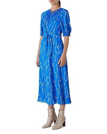 Whistles - Monika Twig-Print Midi Dress