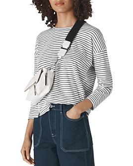 Whistles - Striped Cotton Scoop-Neck Tee
