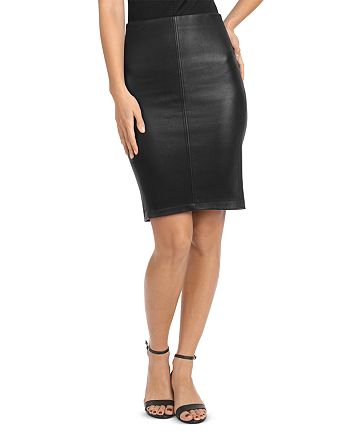 BAGATELLE.CITY - Stretch Leather Pencil Skirt