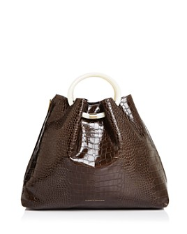Tammy & Benjamin - Deila Croc-Embossed Shoulder Bag