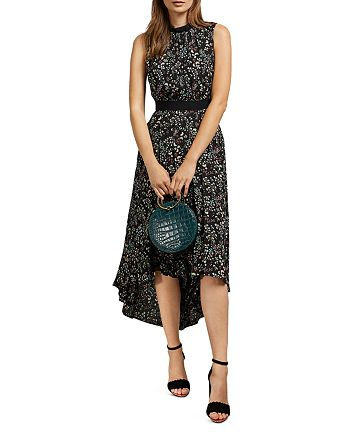 Ted Baker - Frarley Floral Print High/Low Midi Dress
