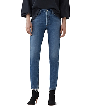 Agolde Jamie High Rise Slim Jeans in Blithe-Women