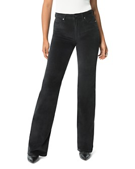 Joe's Jeans - The Molly Velvet High Rise Flare Jeans in Black
