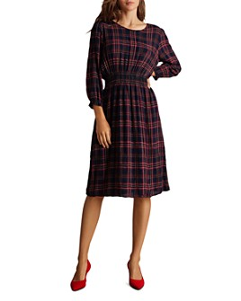 Velvet by Graham & Spencer - Isabella Smocked Plaid Dress