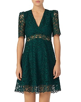 Sandro - Hearty Illusion Fit-and-Flare Dress