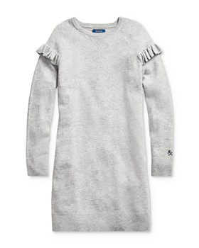 Ralph Lauren - Girls' Ruffled Sweater Dress - Big Kid