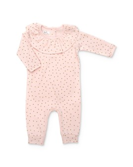 Tun Tun - Girls' Ruffled Polka Dot Coverall - Baby