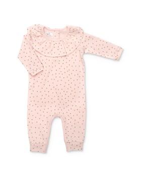 Tun Tun - Girls' Ruffled Polka Dot Coverall - Baby