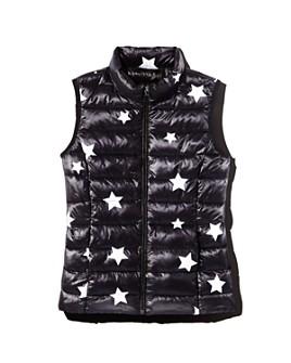AQUA - Girls' Packable Star Print Puffer Vest, Big Kid - 100% Exclusive