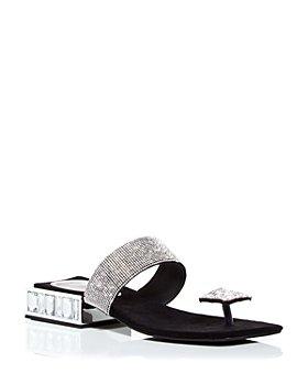 Jeffrey Campbell - Women's Alise Crystal-Embellished Low-Heel Sandals