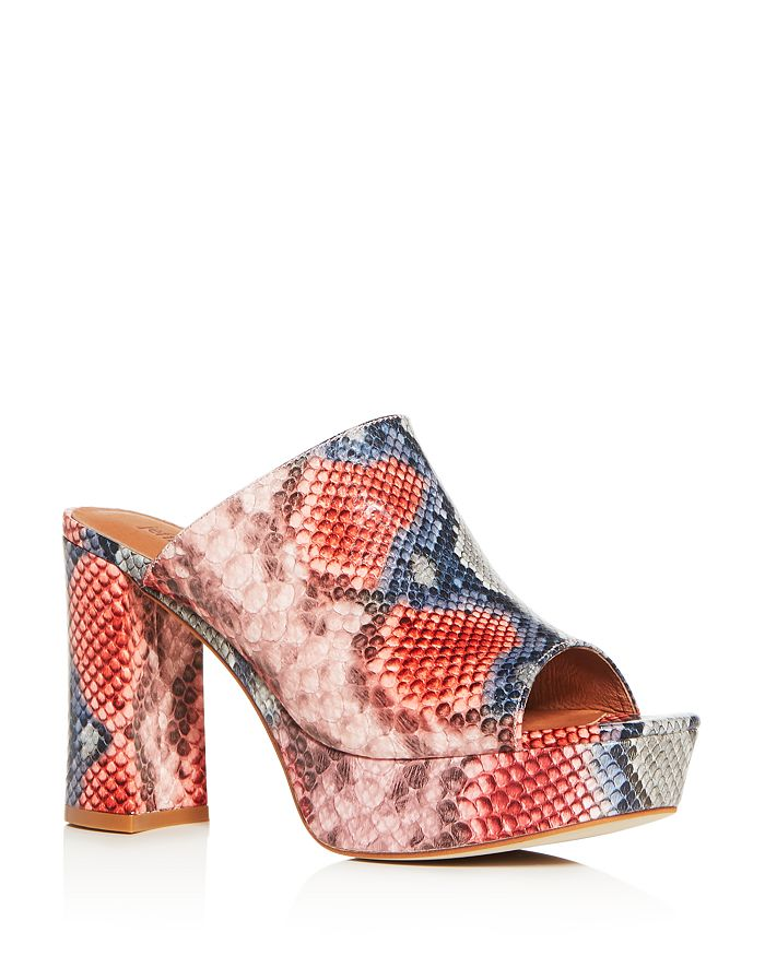 Jeffrey Campbell - Women's Pilar Block High-Heel Platform Slide Sandals