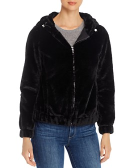 Marc New York - Faux Fur Hooded Jacket