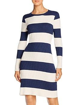 525 America - Rugby-Stripe Sweater Dress