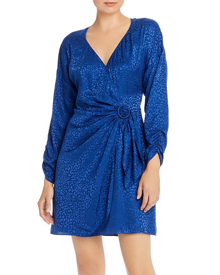 Parker - Linda Cheetah-Print Faux-Wrap Dress