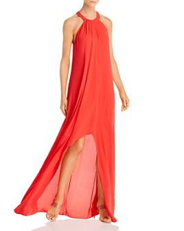 BCBGMAXAZRIA - High-Neck Georgette Gown