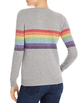 Madeleine Thompson - Humbert Rainbow-Striped Lightweight Cashmere Sweater