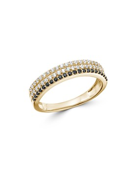 Bloomingdale's - Black & White Diamond Triple-Row Band in 14K White Gold - 100% Exclusive