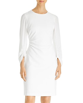 Kobi Halperin - Drew Ruched Silk-Sleeve Sheath Dress