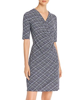 Tommy Bahama - Printed Faux-Wrap Dress