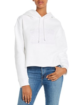 Levi's - Embroidered Fleece-Lined Raw-Hem Hoodie