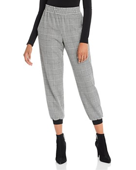 Alice and Olivia - Pete Glen Plaid Jogger Pants