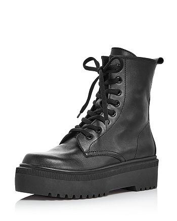 AQUA - Women's Logan Platform Hiker Boots - 100% Exclusive