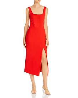 David Koma - Virgin Wool Sleeveless Midi Dress