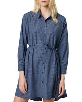 FRENCH CONNECTION - Mattia Check Cotton Shirt Dress