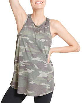 Ingrid & Isabel - Maternity Cross-Back Camo Top