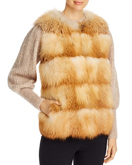 Maximilian Furs - Grooved Nafa Fox Vest - Bloomingdale's Exclusive