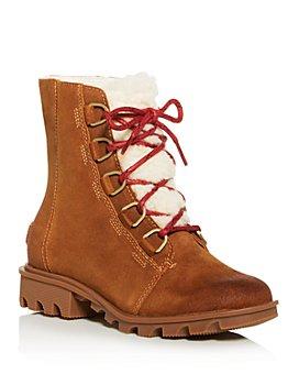 Sorel - Women's Phoenix Shearling Waterproof Cold Weather Mid-Heel Boots- 100% Exclusive