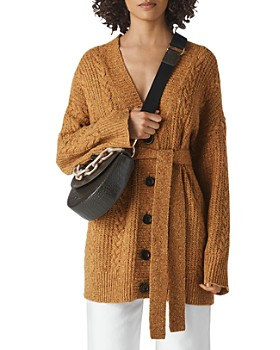Whistles - Oversized Cable Knit Wool Blend Cardigan