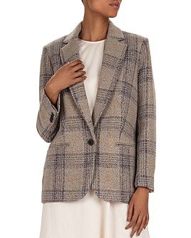 ba&sh - Leto Plaid Virgin Wool Blazer