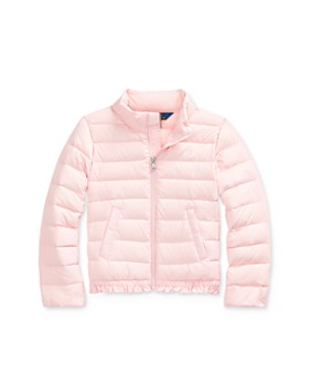 Ralph Lauren - Girls' Ruffle-Hem Down Jacket - Little Kid