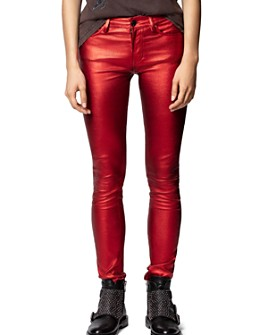 Zadig & Voltaire - Metallic Leather Pants