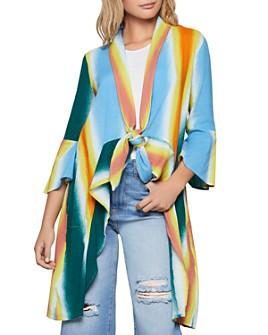 BCBGENERATION - Striped Tie-Front Jacket