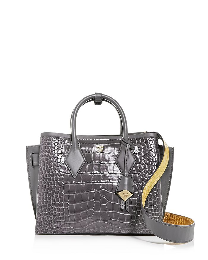MCM - Neo Milla Medium Croc-Embossed Leather Tote