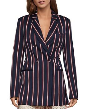 BCBGMAXAZRIA - Double-Breasted Striped Blazer