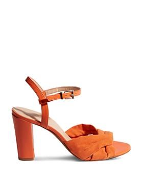 KAREN MILLEN - Women's Strappy Block Heel Sandals