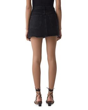 AGOLDE - Pivot Criss-Cross Denim Mini Skirt