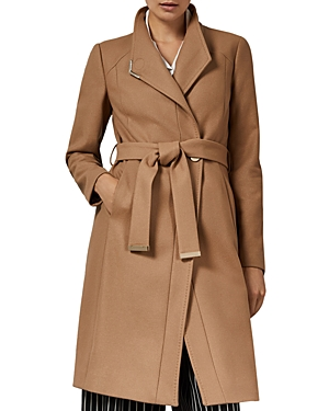 running shoes top-rated original latest selection Ellgenic Long Belted Coat in Camel